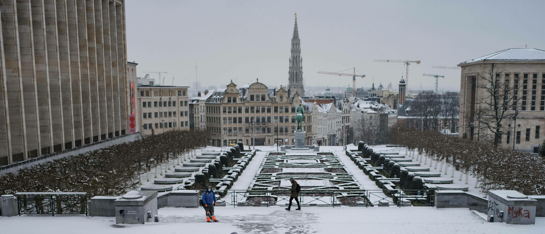 Blick über Brüssel