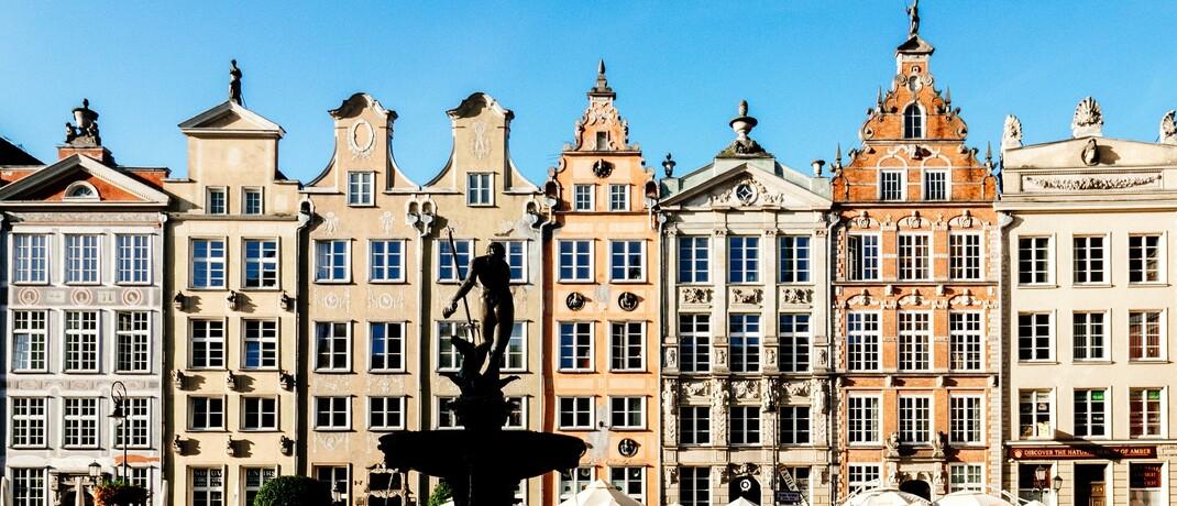Häuserzeile im polnischen Danzig/Gdansk