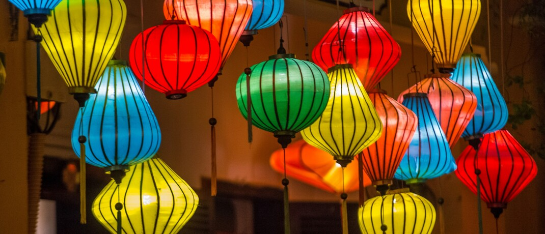 Papierlaternen zum Vollmond-Laternen-Festival im vietnamesischen Hoi An