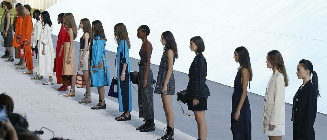 Openair-Modenschau von Hermès in Paris
