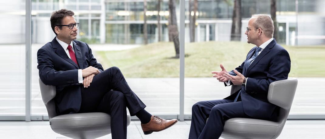 Elmar Peters und Stephan Scheeren (r.), Fondsmanager bei Flossbach von Storch
