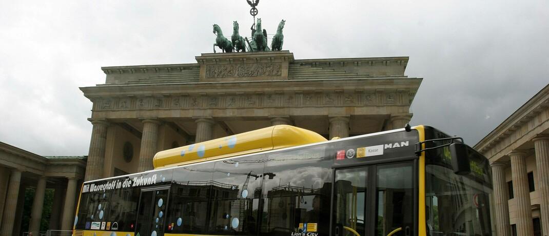 Mit Wasserstoff betriebener Bus in Berlin