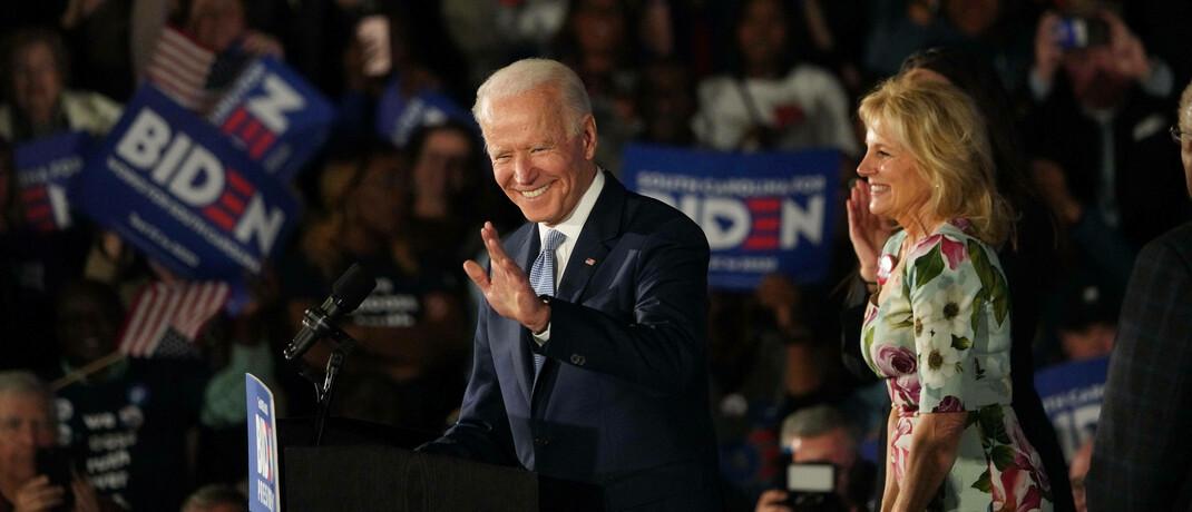 US-Präsident Joe Biden mit Ehefrau Jill