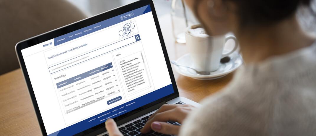 Arbeiten mit Firmen Online