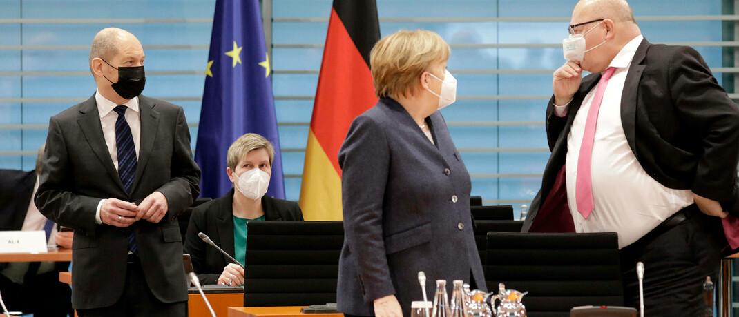 Szene während einer Kabinettssitzung