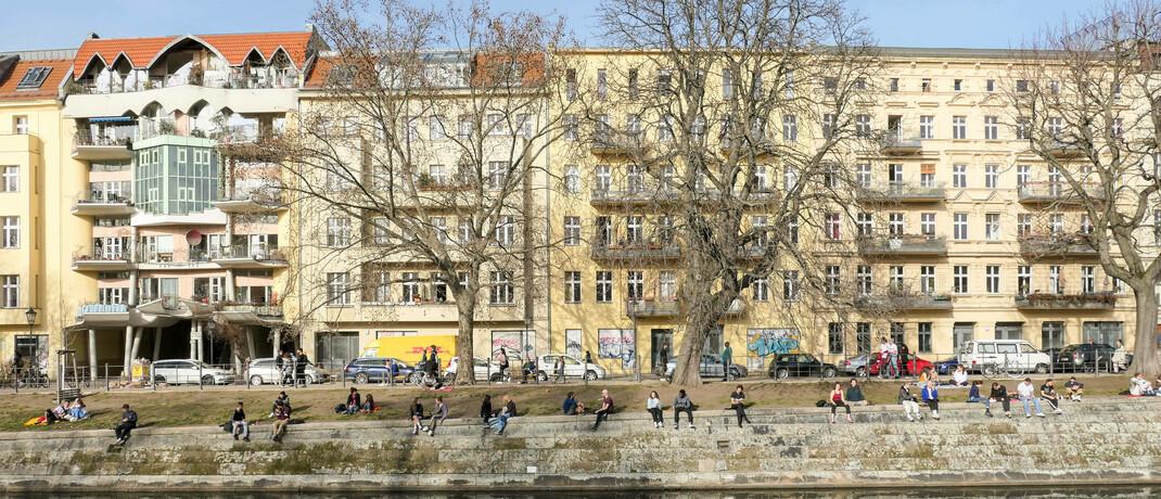Häuserzeile im Berliner Bezirk Kreuzberg