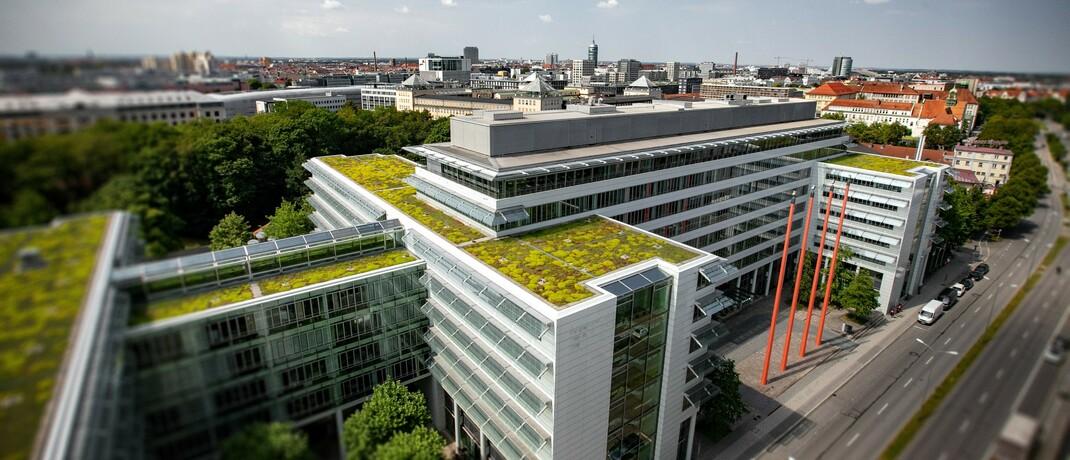 Luftaufnahme der WWK-Zentraldirektion in München