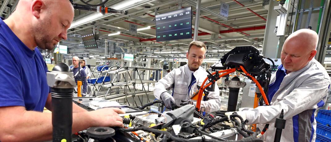 Autoproduktion bei VW