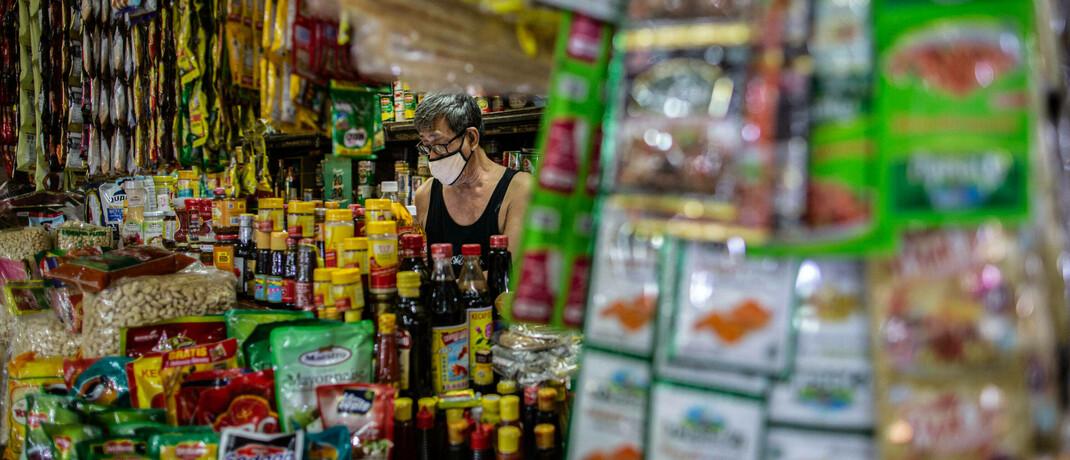 Marktstand in Jakarta