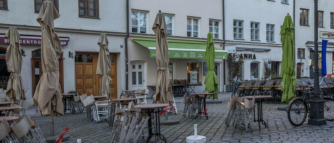 Im Zuge des Corona-Lockdowns geschlossene Restaurants in München