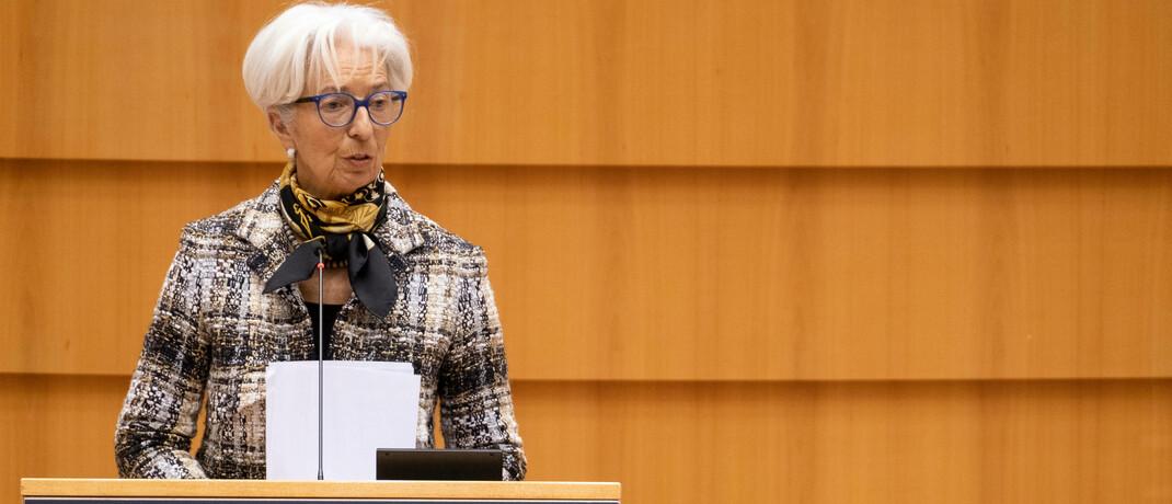 EZB-Chefin Christin Lagarde verheißt eine weiterhin lockere Geldpolitik