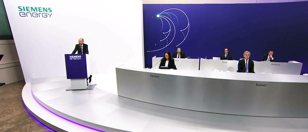 Hauptversammlung des Dax-Aufsteigers Siemens Energy