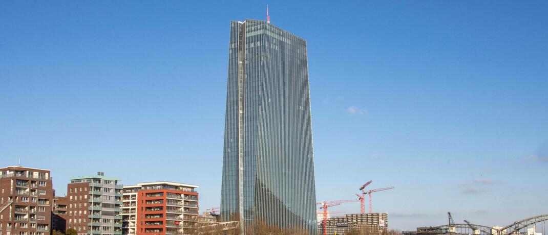 Europäische Zentralbank in Frankfurt