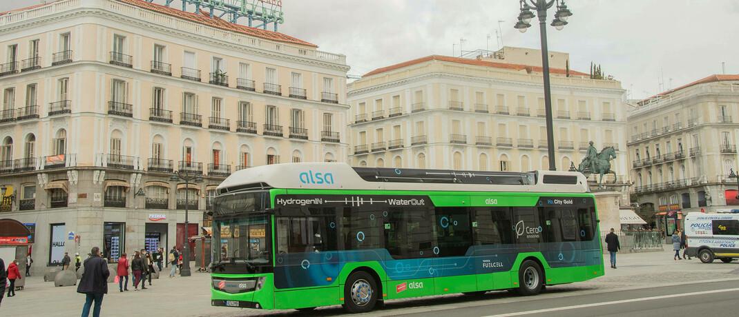 Wasserstoffbus in Madrid
