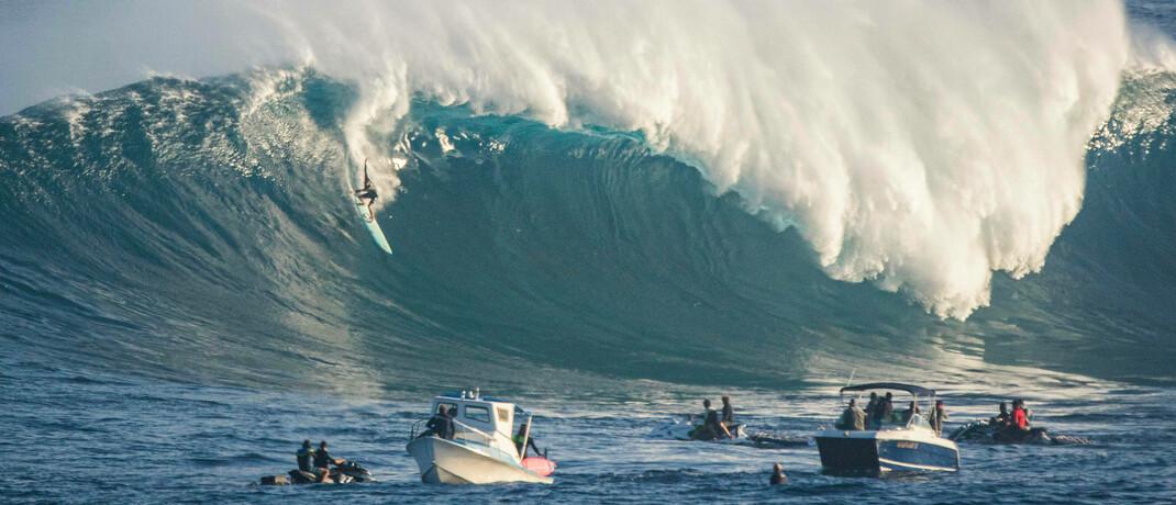 Starker Wellengang vor der Küste Hawaiis