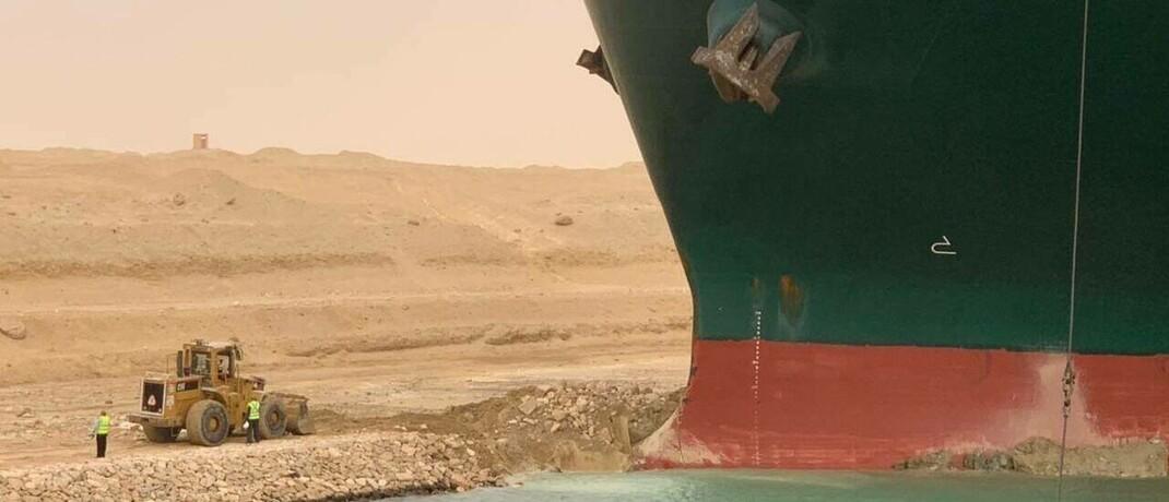 Suez-Kanal blockiert