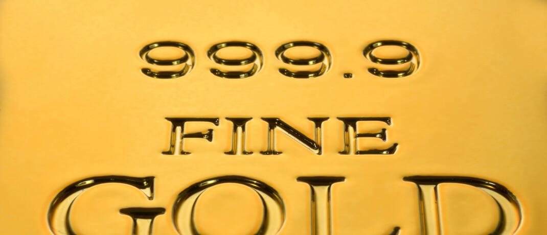 Aufdruck auf Goldbarren