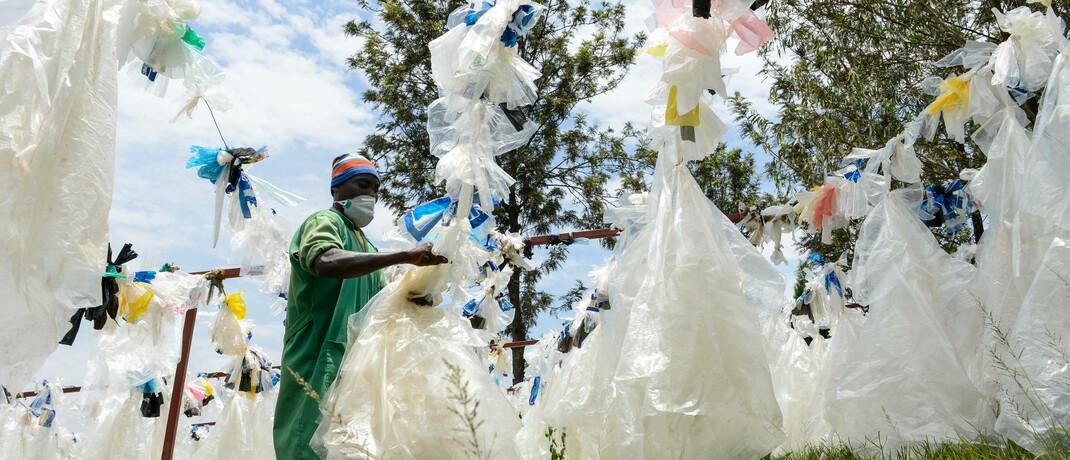 Plastik-Recycling in Ruanda