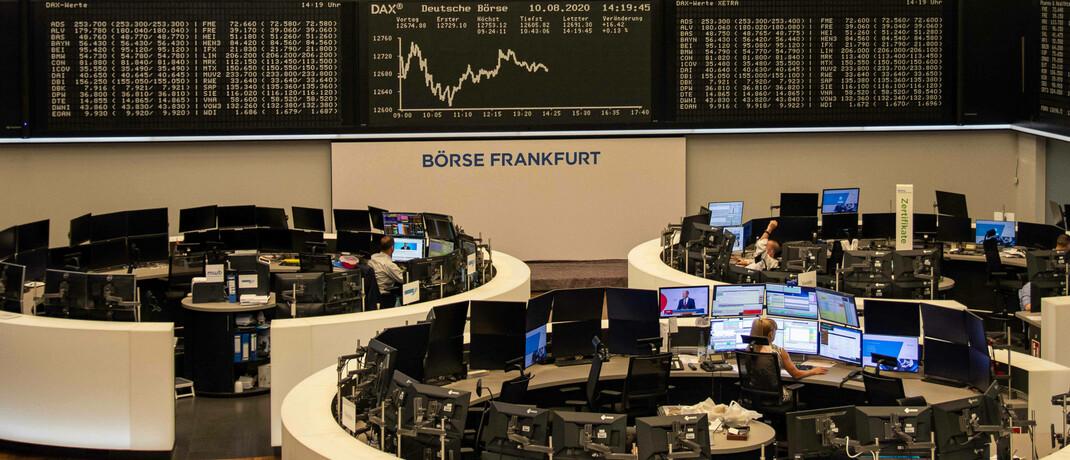 Handelssaal der Deutschen Börse in Frankfurt