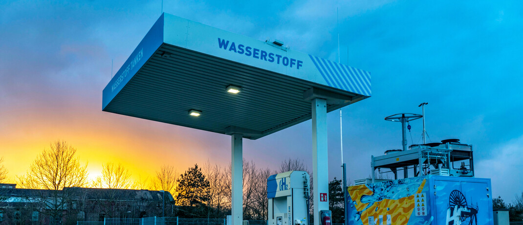 Wasserstoff-Tankstelle im nordrhein-westfälischen Herten