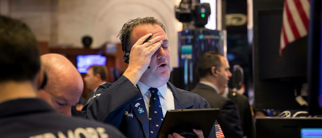 Börsenhändler in New York im März 2020