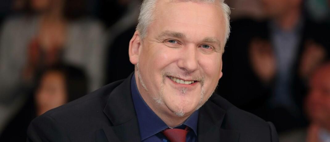 Axel Kleinlein bei einem Auftritt in der ZDF-Talkshow Maybritt Illner