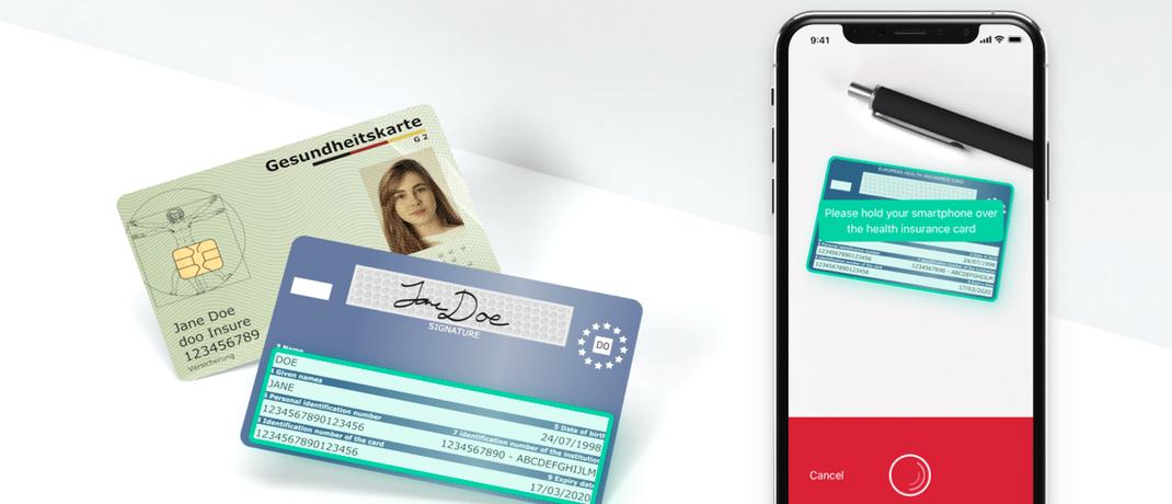 Gesundheitskarten-Scanner für Krankenkassen-Apps