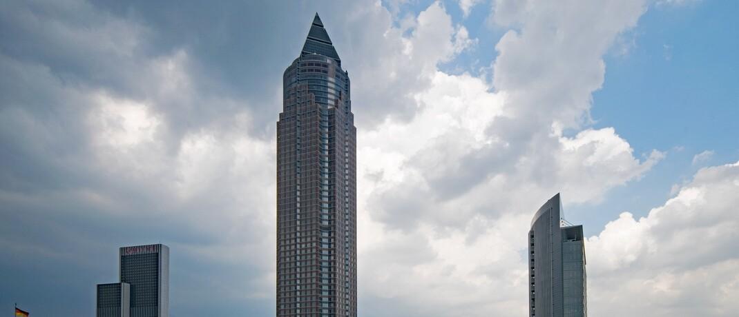 Der Messeturm in Frankfurt/Main