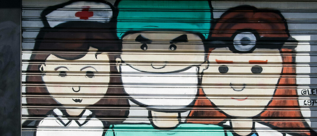 Graffiti auf einem Garagentor