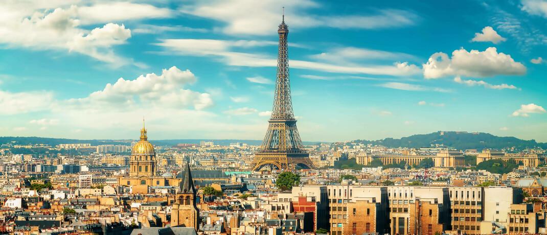 Pariser Eiffelturm, eines der Wahrzeichen Europas