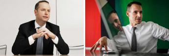 Henning Gebhardt, der alte und Tim Albrecht, der neue Manager des DWS Aktien Strategie Deutschland (v. li.)