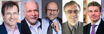 v.l.: Volker Schmidt, Frank Frommholz, Ralf Werner Barth, Frank L. Braun und Jürgen Evers