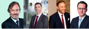 Experten (von links nach recht): Hans-Jürgen Bretzke, Vorstand der FondsKonzept AG; Tim Bröning, Mitglied der Geschäftsleitung der Fonds Finanz Maklerservice; Eric Förster, Leiter Investment und Asset Management bei maxpool; und Sebastian Grabmaier, Vorstandsvorsitzender Jung, DMS & Cie.