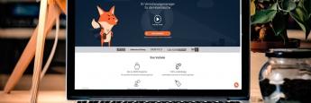 Die Financefox-Website auf einem Laptop