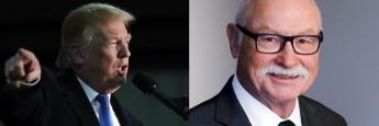 US-Präsident Donald Trump (Foto: Getty Images, l.) und Martin Hüfner, Chefökonom von Assenagon