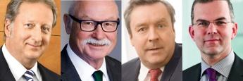 v.l.: Folker Hellmeyer, Martin Hüfner, Christoph Bruns, Hans-Jörg Naumer