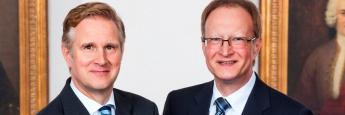 Sven Hoppenhöft (links) und Thomas Reinhold vom Berenberg Vermögensverwalter Office