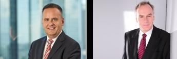 Carsten Gerlinger (li.), Mitglied des Management-Teams des Moventum Plus Aktiv, argumentiert gegen Johannes Hirsch, Manager des Antea-Fonds