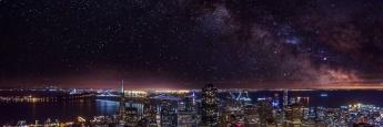 Sternenhimmel über San Francisco, USA