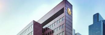 Die Zentrale der Deutschen Vermögensberatung in Frankfurt am Main: DVAG-Vorstand nennt 3 Möglichkeiten, die Negativzinsen zu umgehen