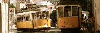 Straßenbahnen in der portugiesischen Hauptstadt Lissabon