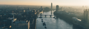 Blick auf das Londoner Finanzviertel