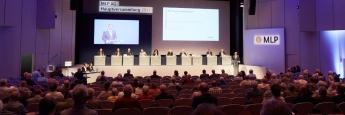 Insgesamt haben mehr als 450 Aktionäre an der Hauptversammlung im Wieslocher Palatin Kongress- und Kulturzentrum teilgenommen. Sie vertraten rund 71,40 Prozent des Grundkapitals.
