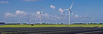 Solar- und Windpark in Klanxbüll, Nordfriesland