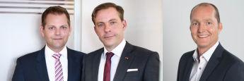 v.l.: Daniel Ahrend und Oliver Drewes von Maxpool sowie Karsten Dümmler von Netfonds