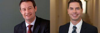 Robert Weiher (l.), Generalbevollmächtigter und Mitgründer der V-Bank, verlässt das Unternehmen zum Jahresende. Florian Grenzebach übernimmt seine Aufgaben als Leiter Vertrieb und Kundenbetreuung.