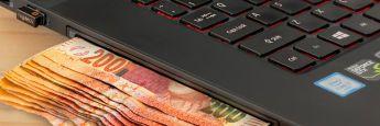 Laptop: Beim Online-Vertrieb im Kreditgeschäft haben viele Banken laut einer PwC-Studie gegenüber den Fintechs Nachholbedarf.