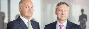 Die Gründer sind gleichzeitig Namensgeber des Kölner Vermögensverwalters: Bert FLossbach (re.) und Kurt von Storch.