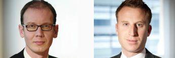 M&G-Fondsmanager: James Tomlins (links) und Stefan Isaacs.