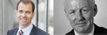"""Verbandsdirektor der Landesbausparkassen Axel Guthmann (li.) und F.A.Z.-Kolumnist Volker Looman: Sind Bausparverträge """"grober Unfug"""" oder ein Garant für langfristige Zinssicherheit?"""